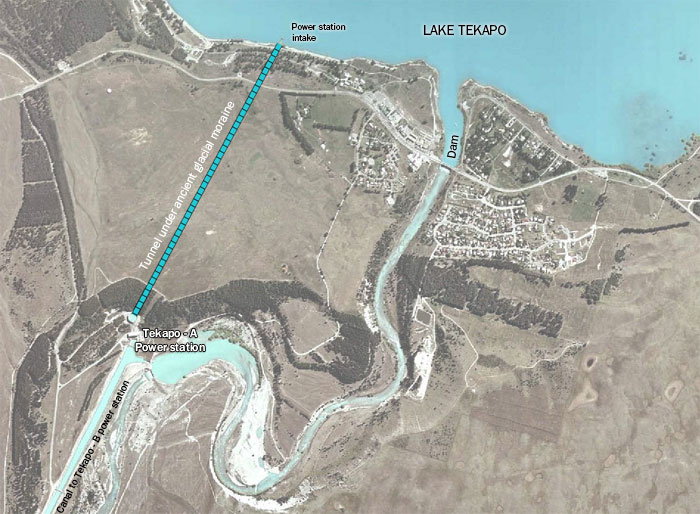 Map of Tekapo - A power station