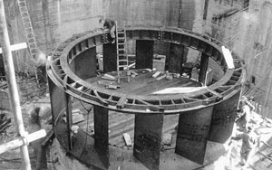 Construction of the Tekpo A power turbine housing
