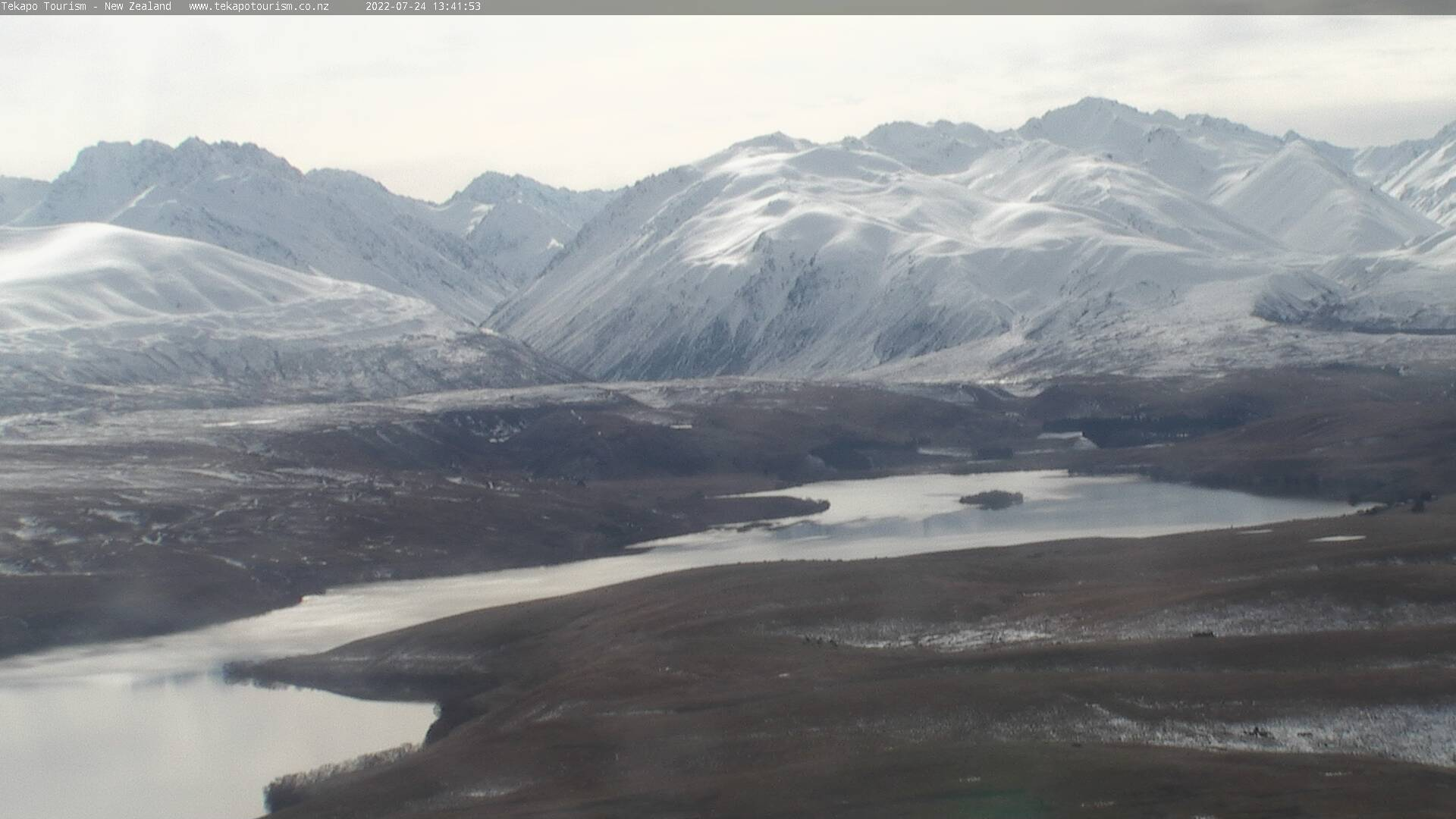 Tekapo Tourism's HD webcam - Lake Alexandrina and Cass Valley