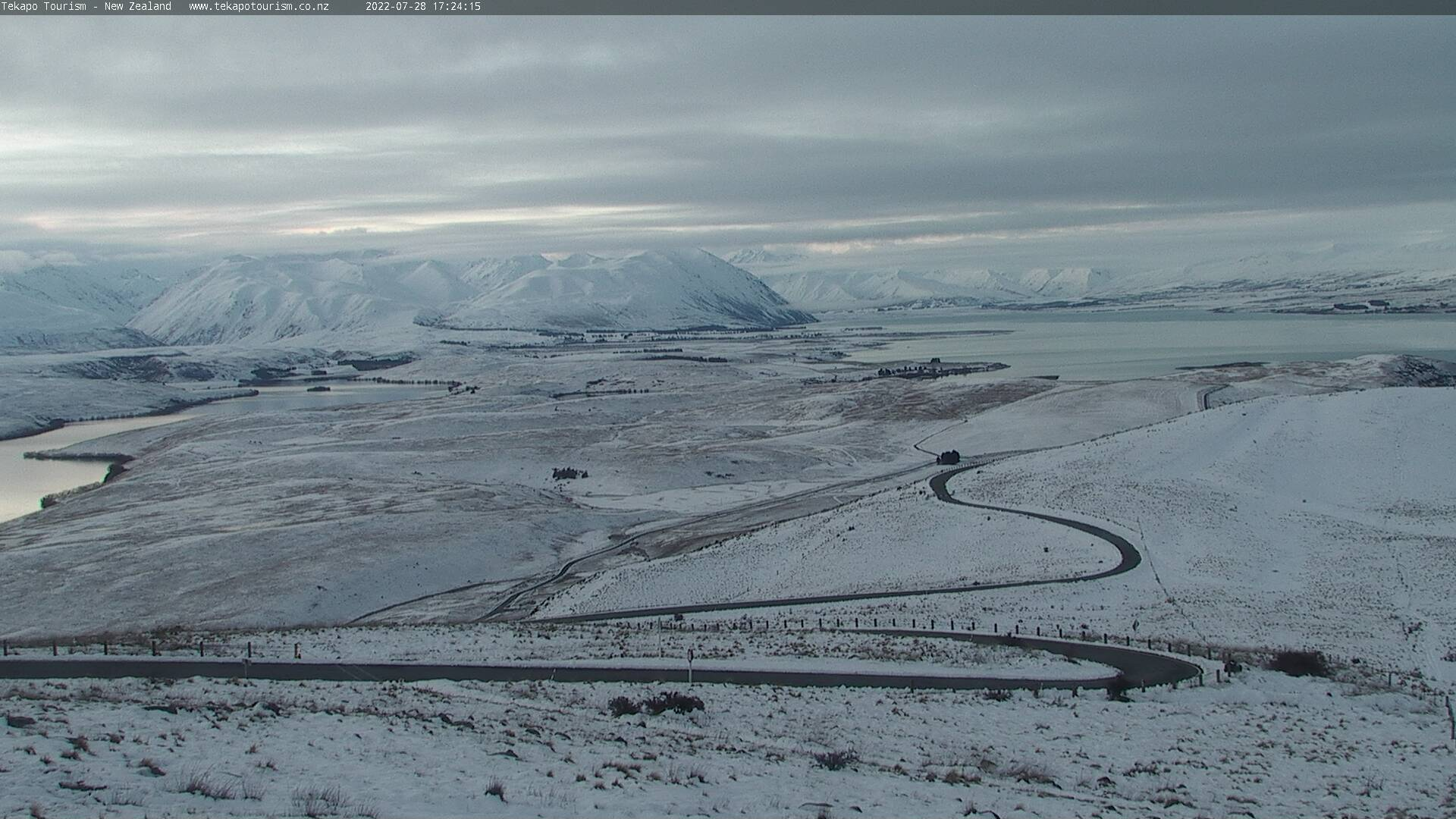Tekapo Tourism webcam. North-West view